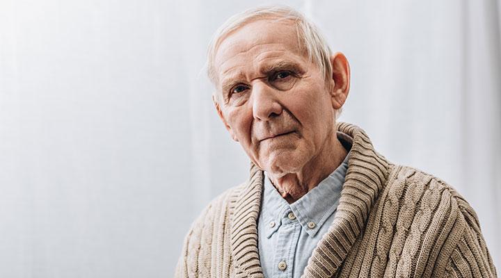 Elderly male with dementia