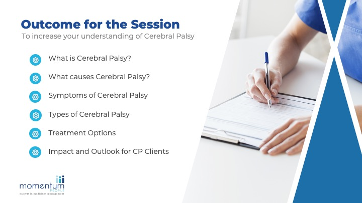 Cerebral Palsy Awareness training sample slides