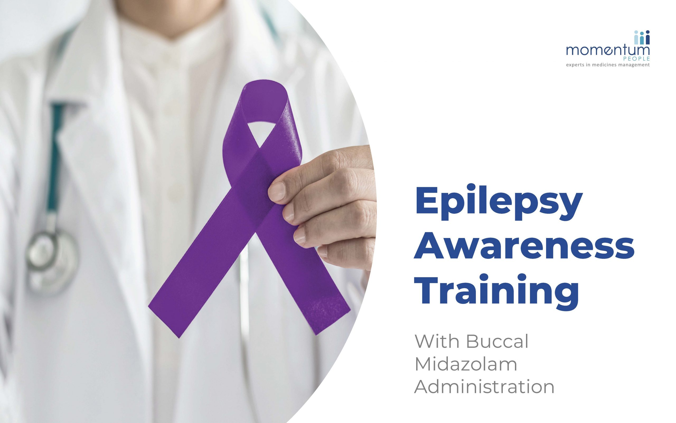 A sample slide from the Epilepsy Awareness training course run by Momentum People