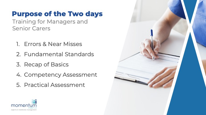 A sample slide from the Competency Assessor Training